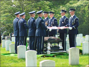 A military farewell