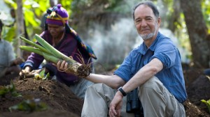 Jared Diamond holding something of scholastic value