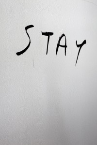 Please, stay