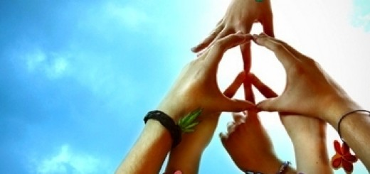peace be with you hands