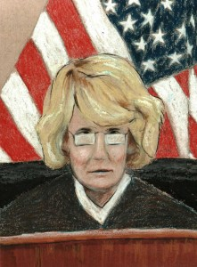 Col Denise Lind, government stooge, drawn by Deb VanPoolen