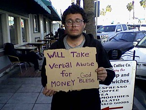 panhandler with values