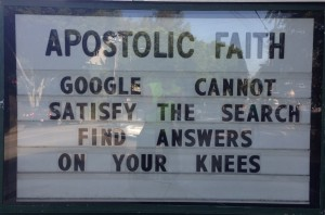 on your knees for answers
