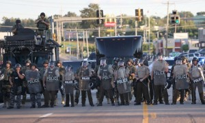 Aftermath of Michael Brown shooting, Ferguson, St. Louis, America - 12 Aug 2014