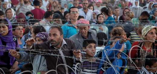 syrian-refugees at the border